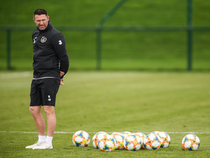 GREEN AND KEANE: Robbie Keane gained experience as Mick McCarthy's assistant but must step up a level if he ever wishes to manage Ireland. Pic: Sportsfile.