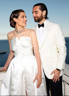 Charlotte Casiraghi weds film producer Dimitri Rassam in Monaco. Picture: Felix Dol Maillot