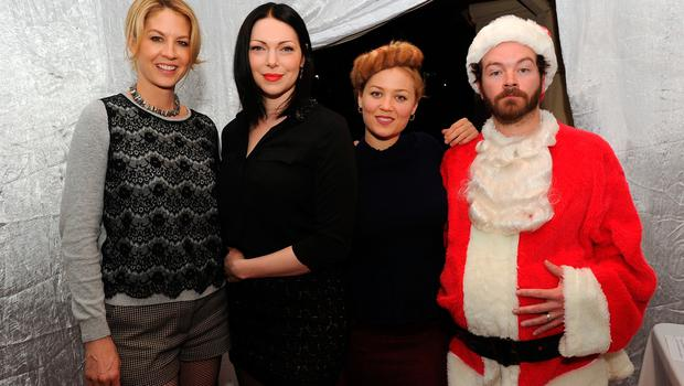 """(L-R) Jenna Elfman, Laura Prepon, Erika Christensen and Danny Masterson attend the Church of Scientology Celebrity Centre's 21st """"Christmas Stories"""" at the Church of Scientology Celebrity Centre on December 14, 2013 in Los Angeles, California. """"Christmas Stories"""" benefits the Hollywood Police Department's Youth Development Programs for underprivileged children.  (Photo by Kevin Winter/Getty Images)"""