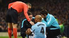 Manchester City's Vincent Kompany is one of the Premier League's most injury-prone players and his club have paid the price - quite literally Getty