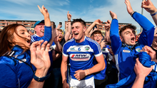 Ryan Mullaney of Laois celebrates with supporters following the All-Ireland Senior Hurling Championship preliminary round quarter-final win over Dublin at OMoore Park in Portlaoise, Laois. Photo: Sam Barnes/Sportsfile