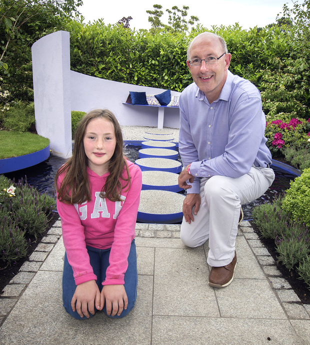Anthony Ryan with his daughter Sadhbh and (below l-r). Photo: Tony Gavin