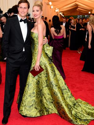 """Jared Kushner (L) and Ivanka Trump attend the """"Charles James: Beyond Fashion"""" Costume Institute Gala at the Metropolitan Museum of Art on May 5, 2014 in New York City.  (Photo by Larry Busacca/Getty Images)"""