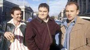 Keith McErlean, Simon Delaney, Don Wycherley in Bachelors Walk, RTE