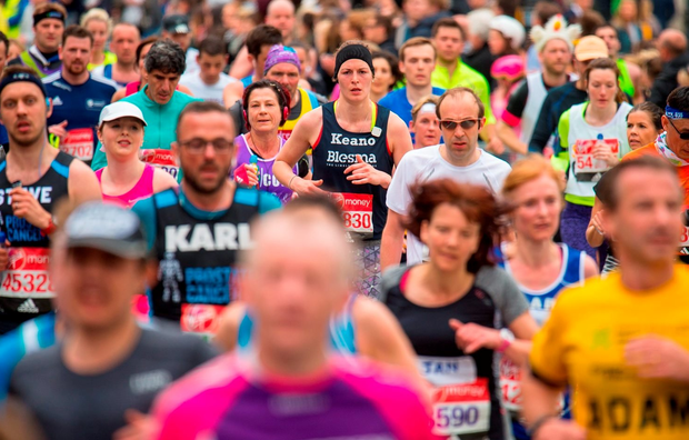 Runner pass through Parliament Square during the 2016 Virgin Money London Marathon. PRESS ASSOCIATION Photo. Picture date: Sunday April 24, 2016. See PA story ATHLETICS Marathon. Photo credit should read: Dominic Lipinski/PA Wire