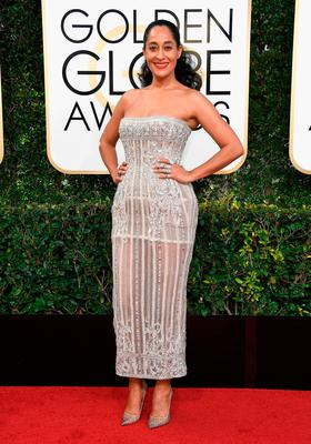 Actress Tracee Ellis Ross attends the 74th Annual Golden Globe Awards at The Beverly Hilton Hotel on January 8, 2017 in Beverly Hills, California.  (Photo by Frazer Harrison/Getty Images)