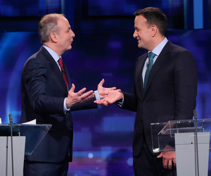 Missing the point: FF's Micheál Martin and Leo Varadkar during the election. Both have failed to help form a government, but Mr Varadkar's sulking is a gift to Sinn Féin. Photo: PA