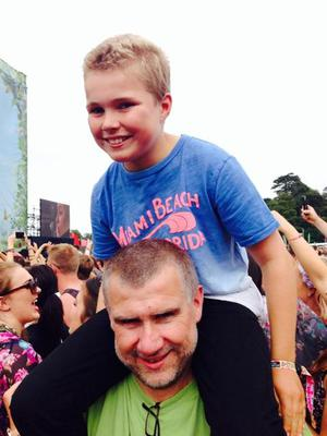 Matt Fennelly, the youngster who turned 12 today - and had thousands of Hozier fans wish him a 'Happy Birthday' at Longitude
