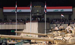 Iraqi Prime Minister Haider al-Abadi attends the celebration of liberation and victory of Mosul, in Baghdad Photo: Iraqi Prime Minister Media Office/Handout via REUTERS