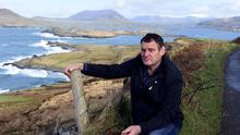 Solar vision: Pat O'Driscoll on his farm on Valentia Island in Co Kerry. Photo by Don MacMonagle