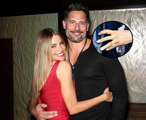 Actress Sofia Vergara (L) and her fiance, actor Joe Manganiello became engaged over Christmas and her ring reportedly cost €500,000.