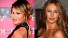 Chrissy Teigen (left) and Melania Trump (right)