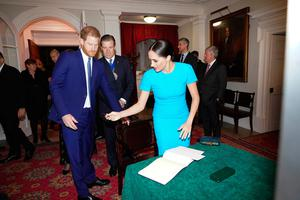 The Duke and Duchess of Sussex attend the Endeavour Fund Awards at Mansion House in London Photo credit: Paul Edwards/The Sun/PA Wire