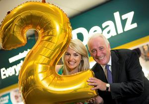 Discount retailer Dealz is set to create 300 new jobs; Pictured are CEO Jim McCarthy and model Pippa O Connor