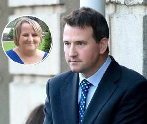 Architect Graham Dwyer is accused of the murder of Elaine O'Hara  (inset), from Killiney, Co Dublin