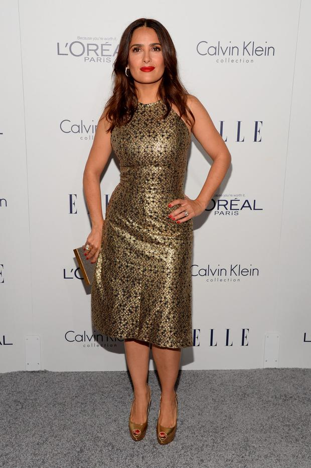 Actress Salma Hayek attends the 22nd Annual ELLE Women in Hollywood Awards at Four Seasons Hotel Los Angeles at Beverly Hills on October 19, 2015 in Los Angeles, California. (Photo by Michael Kovac/Getty Images for ELLE)