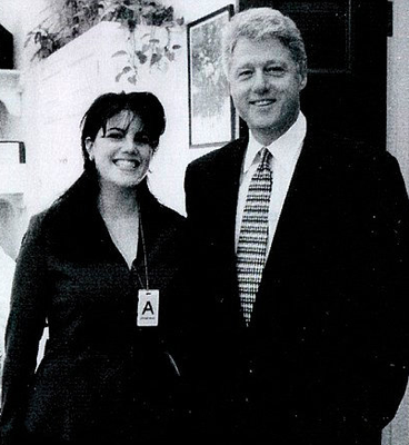 Monica Lewinsky and former US president Bill Clinton. Picture: Getty