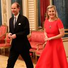 Prince Edward, Earl of Wessex and Sophie, Countess of Wessex arrive at a reception to mark the UK-Africa Investment Summit at Buckingham Palace on January 20, 2020 in London, England. (Photo by Yui Mok - WPA Pool/Getty Images)