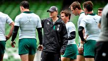 Ireland coach Joe Schmidt is seeking a repeat of the cauldron-like atmosphere at the Aviva that drove his side's zealous performance in that heartbreaking defeat to New Zealand last year. Photo: Matt Browne / SPORTSFILE
