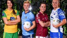 Pictured at the Lidl 'One Good Club' launch last January, from left, Emer Gallagher of Donegal, Carla Rowe of Dublin, Nicola Ward of Galway and Caoimhe McGrath of Waterford, at the launch of the 2020 Lidl Ladies National Football Leagues, at Lidl Ireland Head Office in Tallaght, Dublin. Photo: Seb Daly/Sportsfile