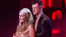 Katherine Lynch & Kai Widdrington after they were voted out of of RTE's Dancing with the stars. Picture: KOBPIX