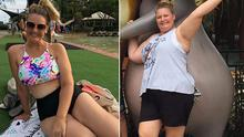 Rebecca shed six stone (40kg) on the Australian version on The Biggest Loser but soon piled on the weight again
