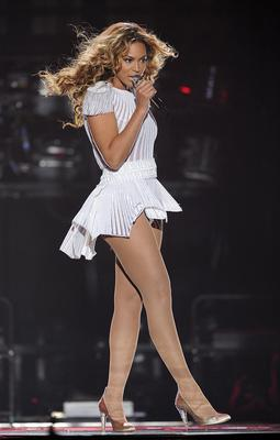 "Singer Beyonce performs on the opening night of her ""Mrs. Carter Show World Tour 2013"", at the Kombank Arena in Belgrade, Serbia."