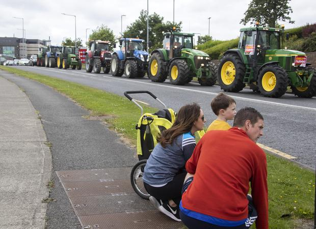Irish Farmers Association rally in Swords, Co. Dublin to highlight the importance of the farming and agri-food sector to the rural econiomy. Similar rallies were held in towns throughout the country. Picture Colin Keegan, Collins Dublin