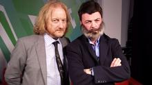Barry Egan (left) talks to the controversial Corkman about his new book,The Second Half . . .with a little help from Oliver Callan (right)