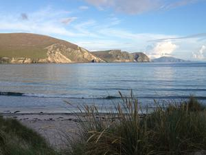 "The Minaun Cliffs and Clare Island as viewed from the beach at Keel, Achill Island, Co. Mayo. ""On a fine day there is nowhere quite like this,"" says Stephen Collins. ""The picture was taken at dusk with an iPhone 4S, no modifications or retouching."""