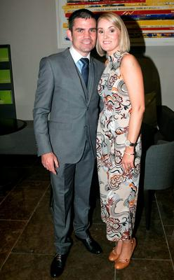 Bernard and Pamela Dunne at the All Ireland Celebration Banquet in The Gibson Hotel