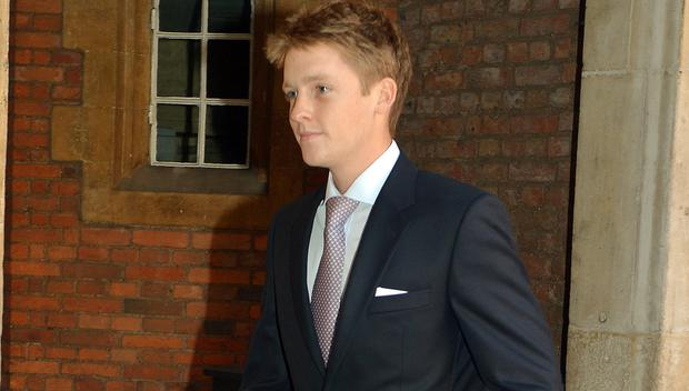 The new Duke of Westminster Hugh Grosvenor at the Chapel Royal in St James's Palace, ahead of the christening of Prince George of Cambridge