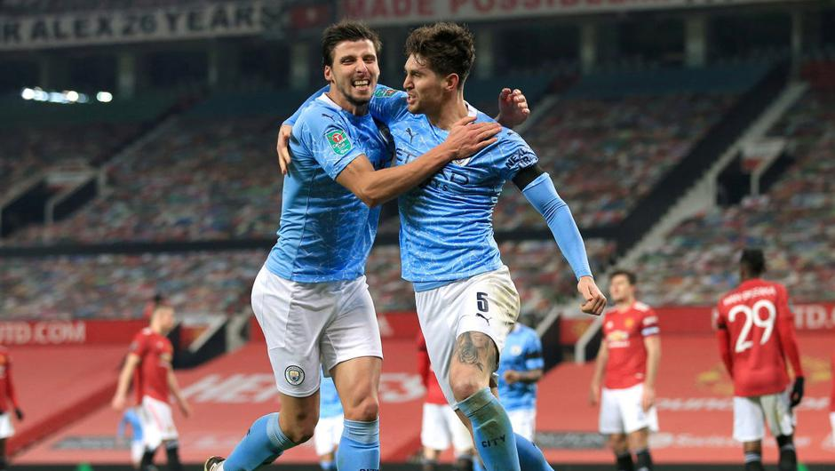 Ruben Dias and John Stones have established an assured defensive partnership at Manchester City. Photo: Getty Images