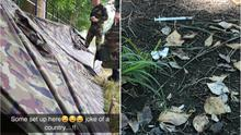 Photos emerged yesterday evening of makeshift tents in the park as well as dirty needles in the vicinity of where the troops claimed to be sleeping in the Phoenix Park.