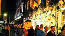 Mr Tayto queues up for Coppers last night