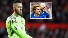 David de Gea and (inset) Griezmann