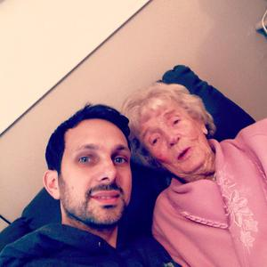 Dynamo with his grandmother. Facebook