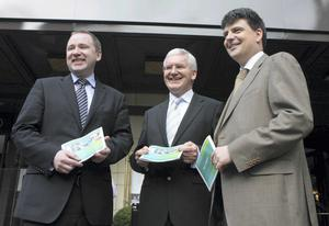 Stephen Kavanagh Planning Director at Aer Lingus with Dermot Mannion Chief Executive at Aer Lingus and Sean Coyle