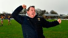 Man on mission: Wexford manager Davy Fitzgerald celebrates another win over Kilkenny. Photo: Ray McManus/Sportsfile