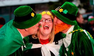 Irish fans prior to the RBS Six Nations at the Principality Stadium. David Davies/PA Wire