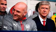 Arsenal manager Arsene Wenger and his assistant Steve Bould