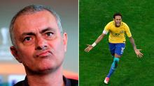 Jose Mourinho says Man United can't sign Neymar (right)