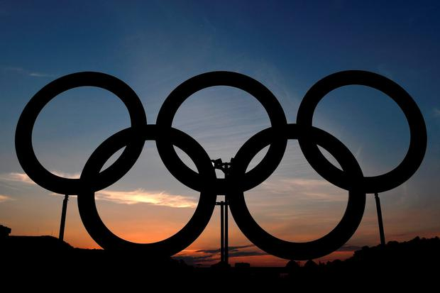 A general view of the Olympic Rings are seen ahead of the Opening Ceremony of the Rio 2016 Olympic Games at the Maracana Stadium, Rio de Janeiro. (Photo by Ross Kinnaird/Getty Images)