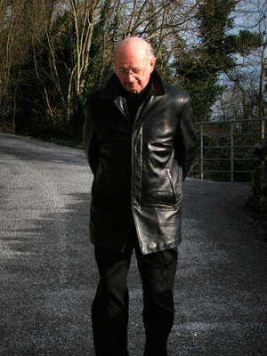 Bishop Eamonn Casey out for an early morning stroll in Shanaglish, Co Galway, in 2006. Photo: Brian Farrell