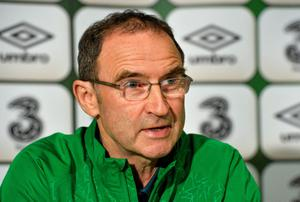 Republic of Ireland manager Martin O'Neill speaking to the press ahead of their UEFA EURO 2016 Championship Qualifer Group D game against Scotland