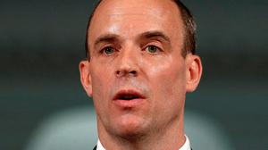 Britain's Foreign Secretary Dominic Raab. Photo: Peter Nicholls/PA