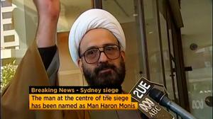 Iranian refugee Man Haron Monis speaks in this still image taken from undated file footage. Australian security forces on December 16, 2014 stormed the Sydney cafe where several hostages were being held at gunpoint, in what looked like the dramatic denouement to a standoff that had dragged on for more than 16 hours