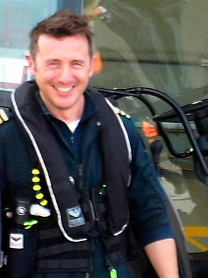 Helicopter pilot Mark Duffy Photo Tom Conachy