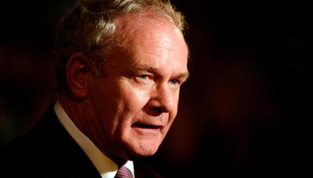 The late Martin McGuinness. Photo: Niall Carson/PA Wire