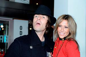 Liam Gallagher and singer Nicole Appleton, as the rock star is embroiled in a family court dispute with his ex-wife Appleton